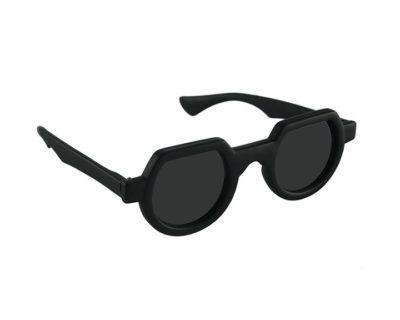 unisex round black plastic frame Goth Steampunk sunglasses HI TEK HT-010