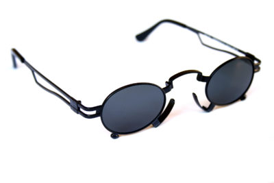 small oval Goth Steampunk sunglasses Hi Tek HT-164