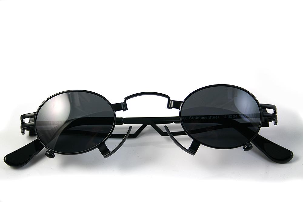 small oval Goth Steampunk sunglasses Hi Tek HT-164