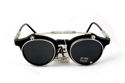 Hi Tek round retro 1950s vintage flip up sunglasses HT-103-1