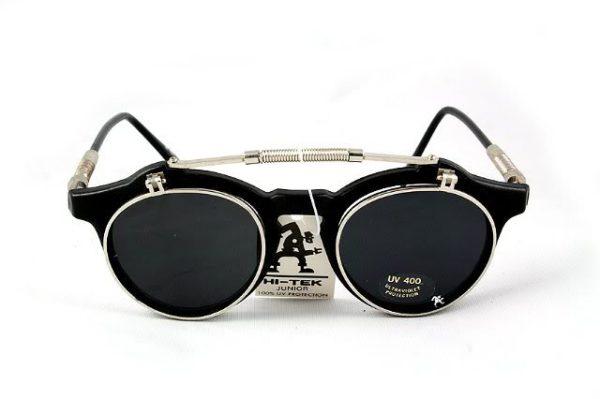 Hi Tek round retro 1950s vintage flip up sunglasses HT-103-1