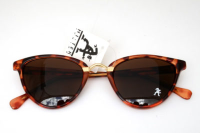 Retro cats eye sunglasses tortoise frame brown lens Hi Tek model HT-5556