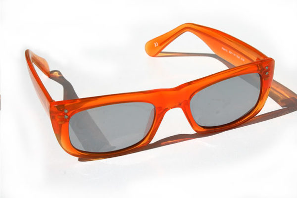 unisex rectangular square neon red platic frame sunglasses silver mirror lens