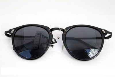 black round retro sunglasses Hi Tek model HT-9105