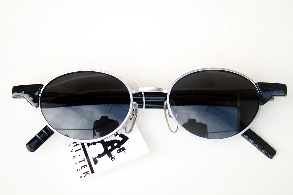 188e6fdfcc1d6 Hi Tek vintage black oval sunglasses Goth Steampunk HT-RET-9105