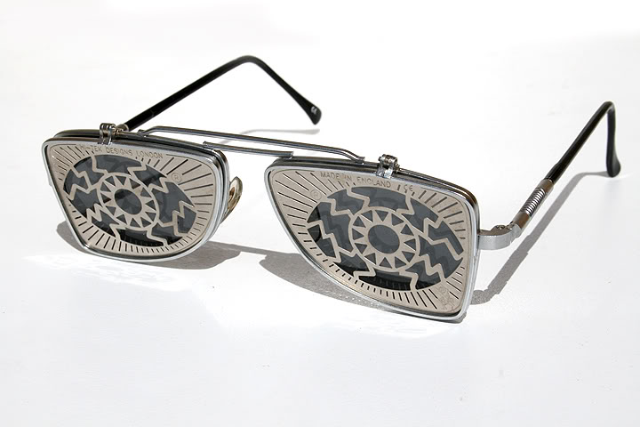 vintage metal flip up sunglasses steampunk Hi Tek HT-OBFL-EYE