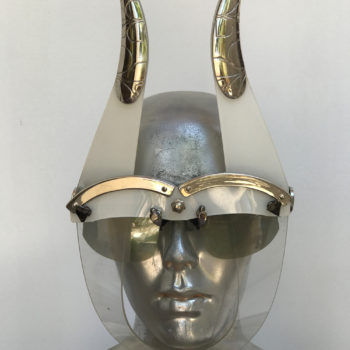 white mask with horns