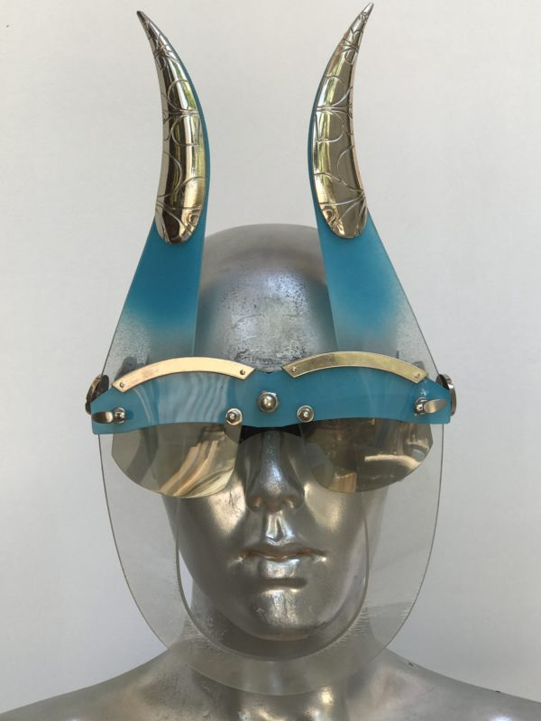 Mask with horns, styling , video shoot Burning Man Festival
