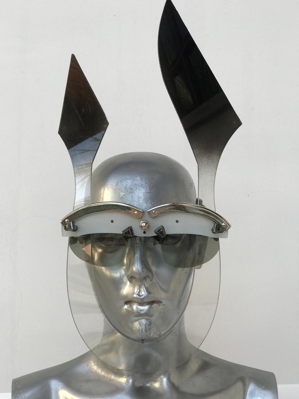 handmade futuristic modern steampunk unusual eye wear mask Hi Tek