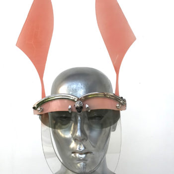 pink mask with ears