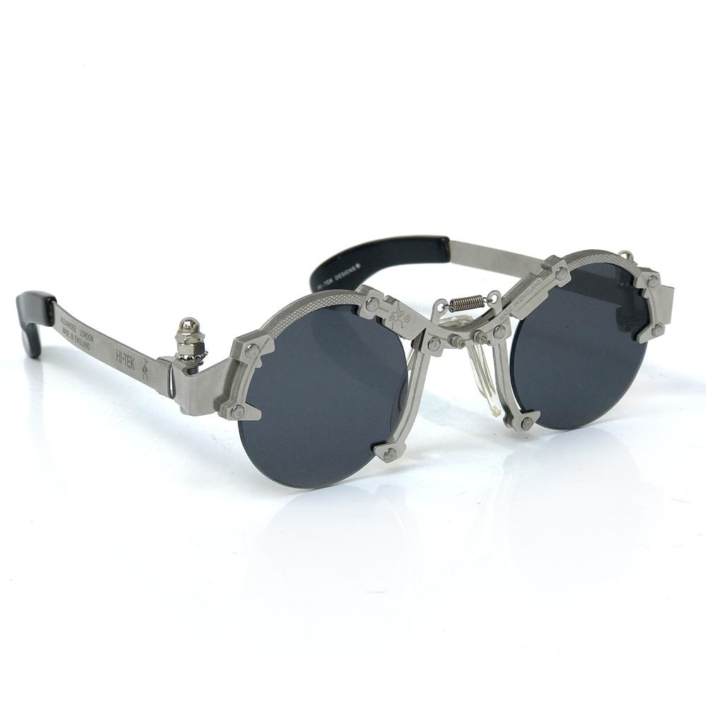 fb0f616ec7c Hi Tek round silver metal sunglasses HT-cult-8b unusual industrial steampunk