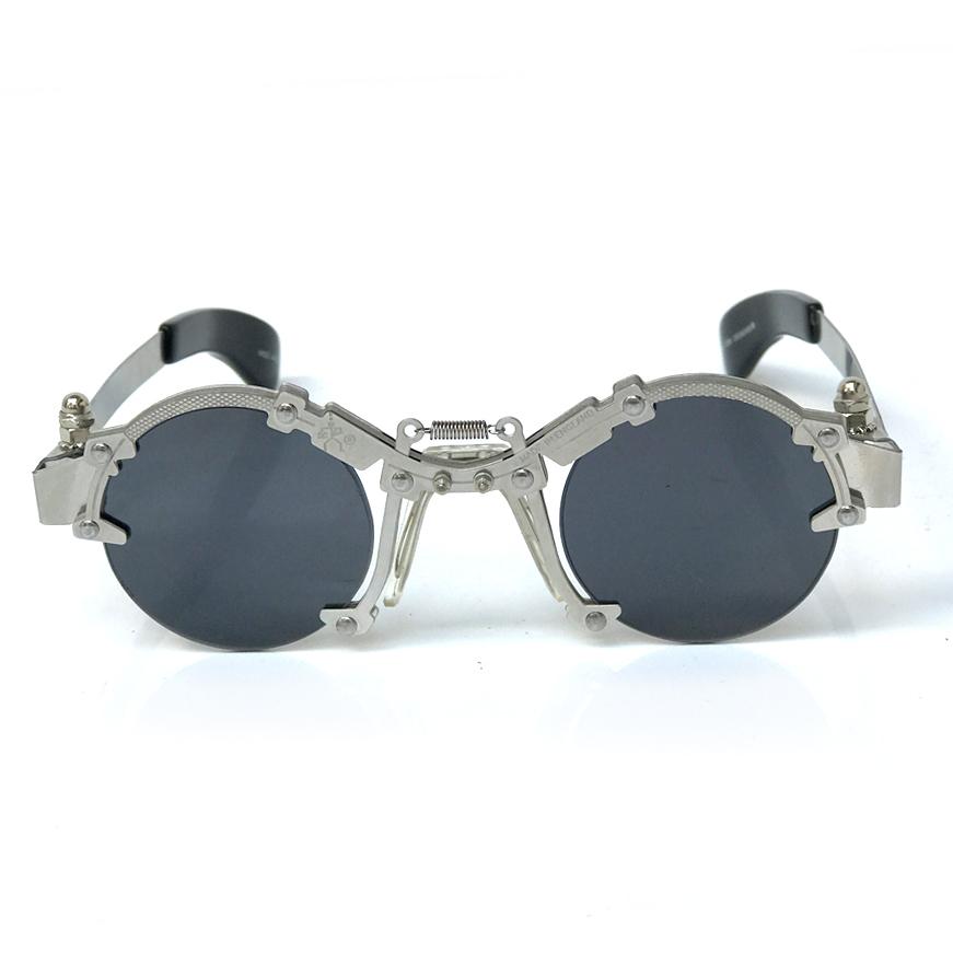 5a9e33af51d unusual sunglasses · Hi Tek round silver metal sunglasses HT-cult-8b  unusual industrial steampunk