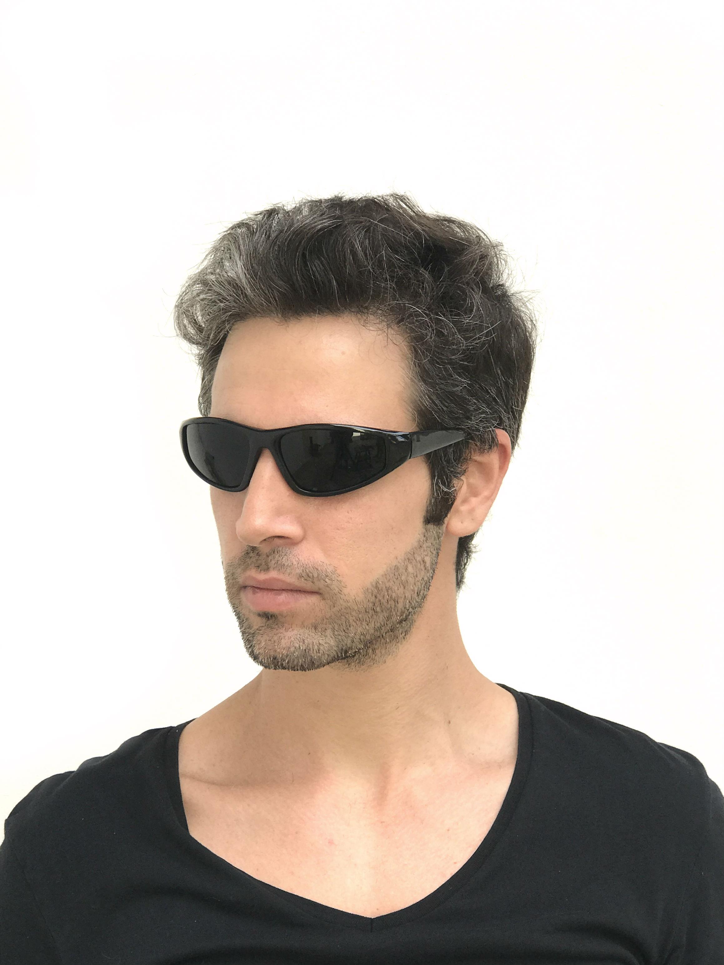 black goggle sunglasses