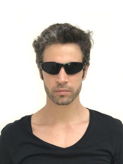all black goggles sunglasses Hi Tek