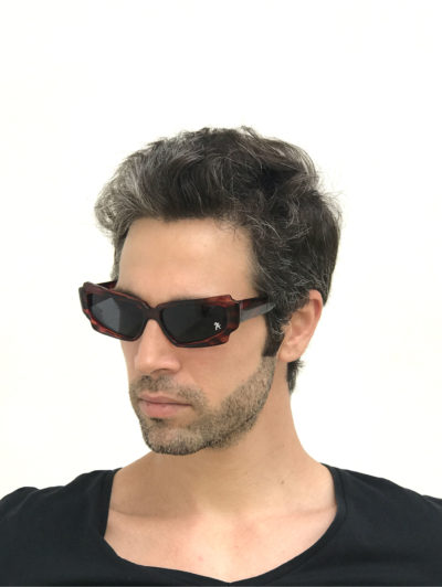 retro tortoise oblong sunglasses