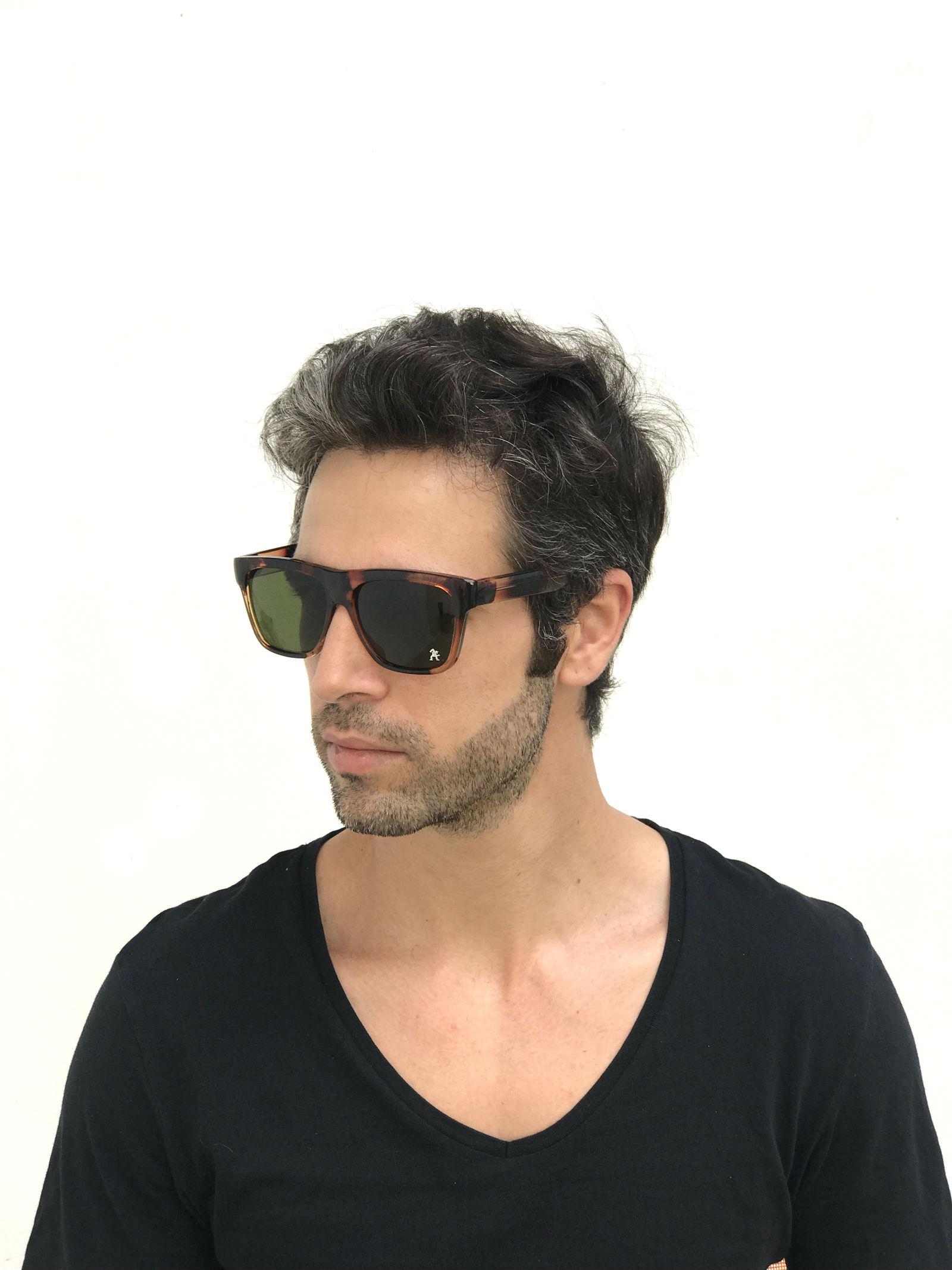 78c4c4fccf06 retro rectangular tortoise sunglasses with green lenses Hi Tek HT-92111