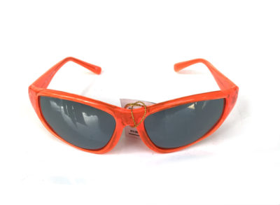 neon red goggle sunglasses