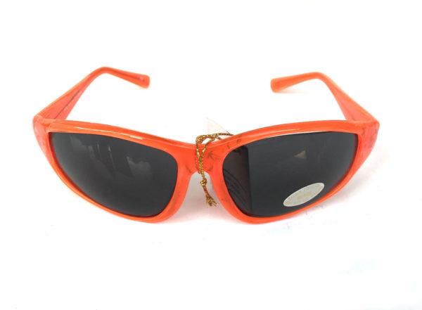 neon red goggle sunglasses