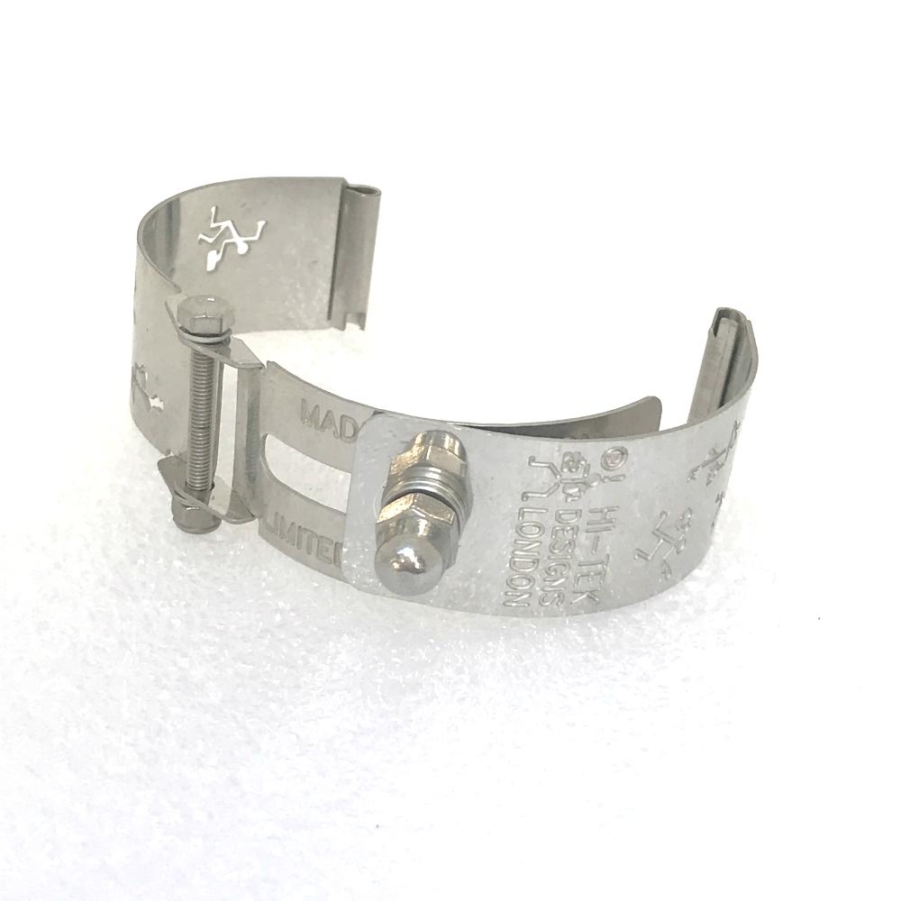 Ht Tek Alexander stainless steel watch strap unusual unique logos