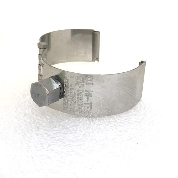 Ht Tek Alexander stainless steel watch strap unusual unique plain