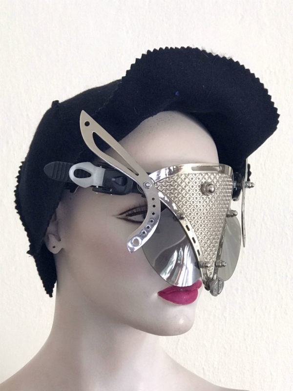 handmade futuristic modern steampunk unusual eye wear mask Hi Tek