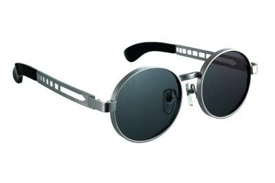 vintage round silver metal sunglasses Hi Tek HT-3002