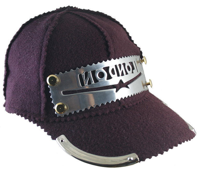 purple wool baseball cap HI TEK unusual unique hip hop rapper