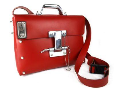 Hi Tek  leather messenger bag briefcase for men unusual design