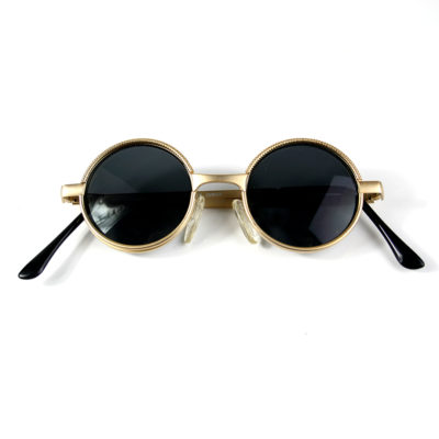 small round sunglasses metal frame gold silver lens options