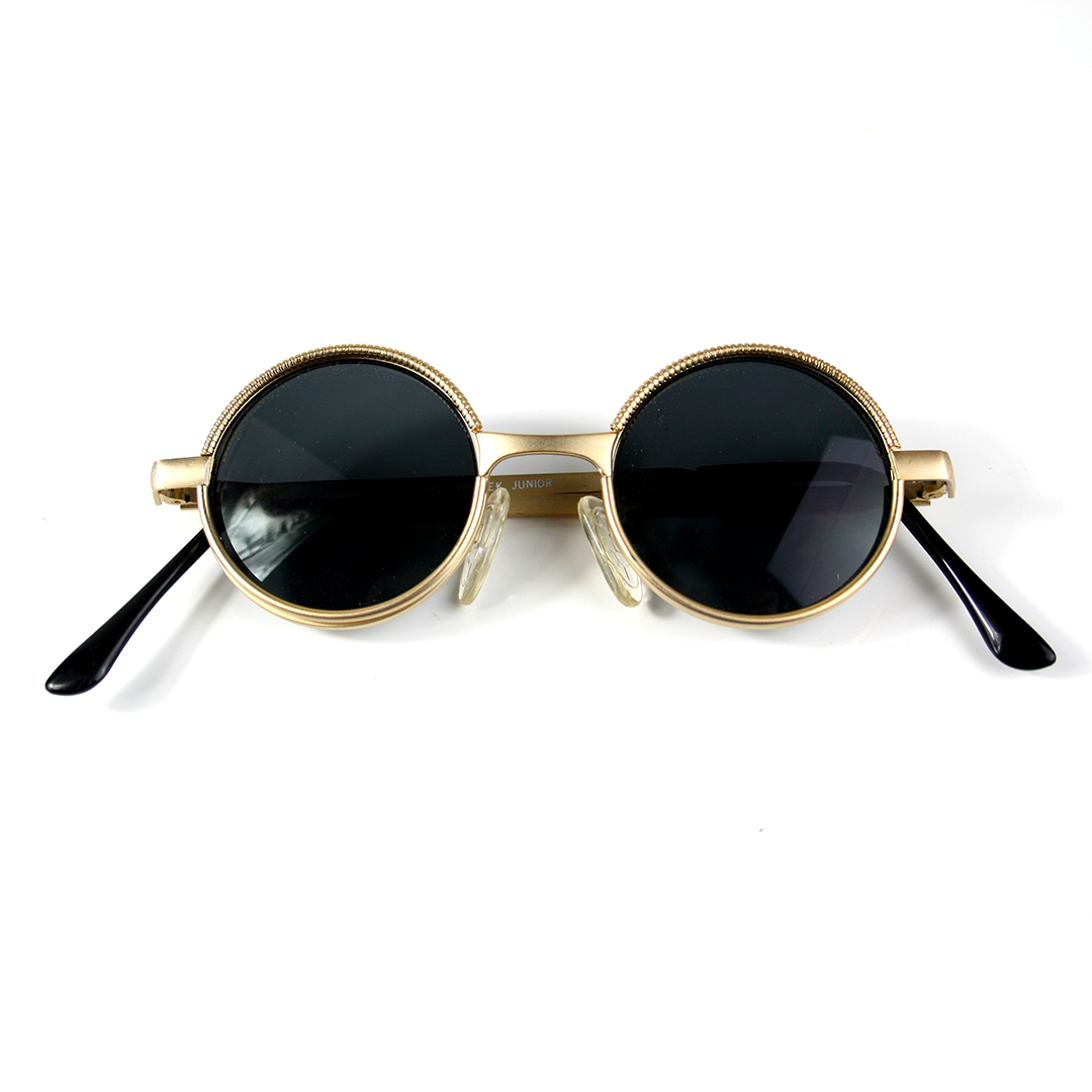 small round sunglasses metal frame gold silver lens ...