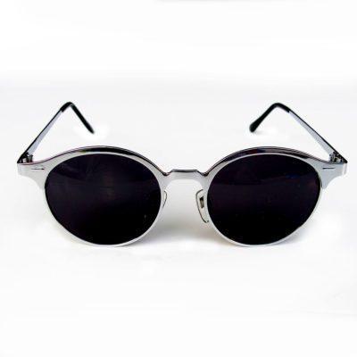 round silver metal sunglasses wayfarer Hi Tek  HT-8642