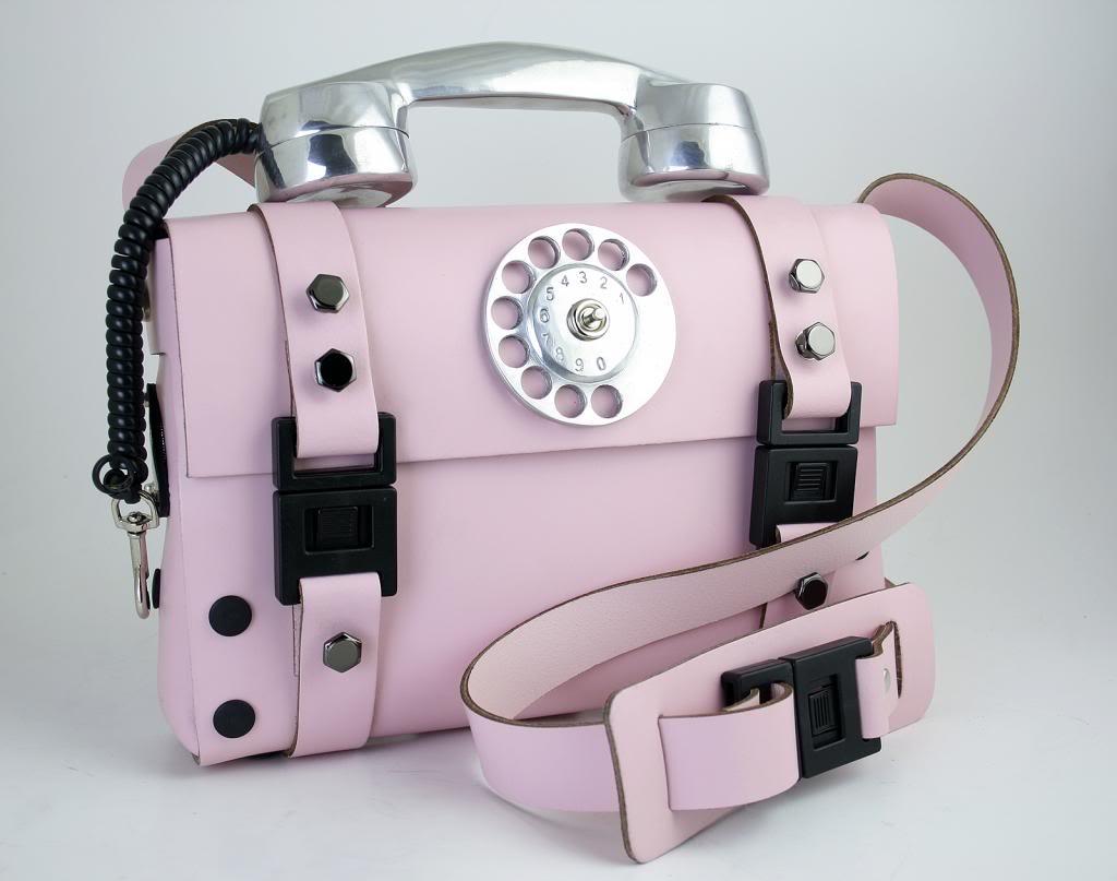 Hi Tek Alexander pink leather shoulder bag for women unusual unique
