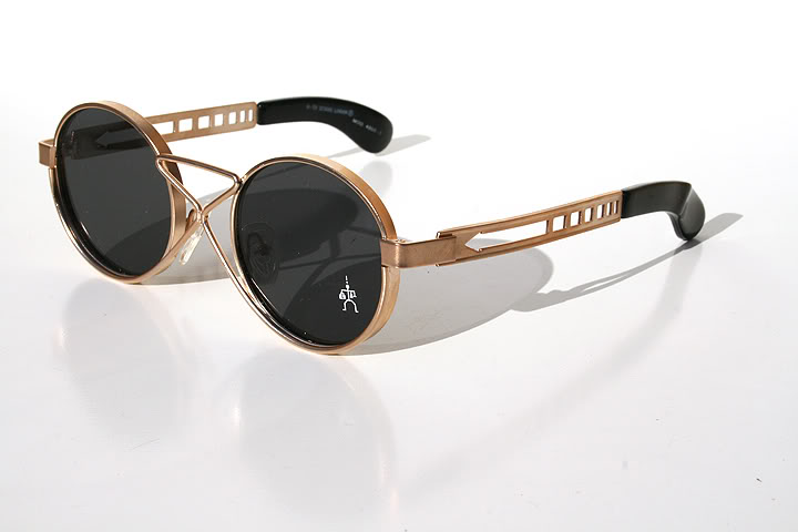 Black Frame Accessory Glasses : Hi Tek vintage round gold metal sunglasses HT-4008 unusual ...
