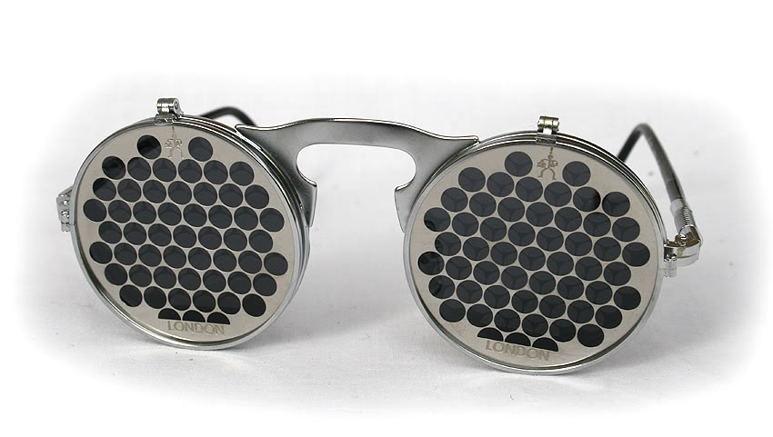 Hi Tek unisex round metal flip up sunglasses model HT-006-CIRCLE