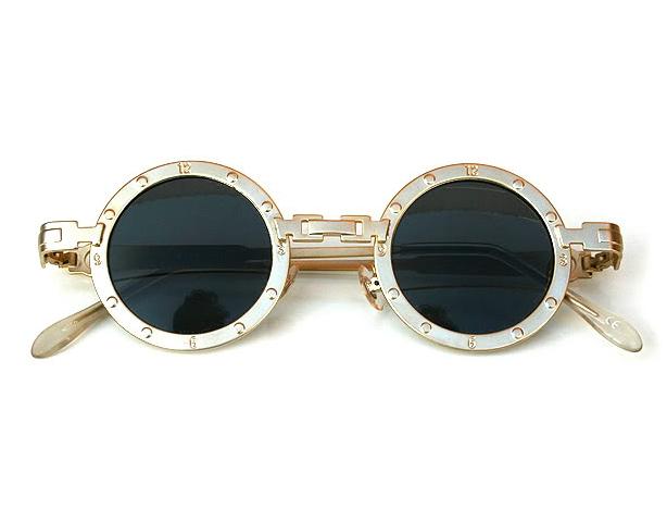 7cdb4877714 round metal sunglasses silver gold unusual bridge Hi Tek Alexander ...