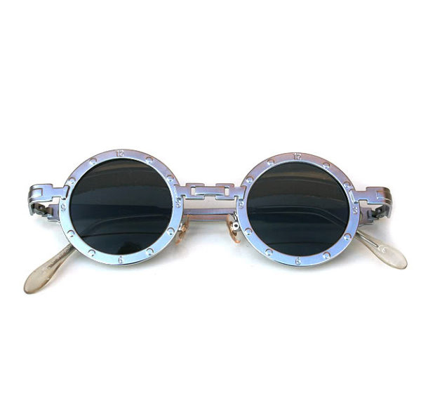 round silver metal sunglasses
