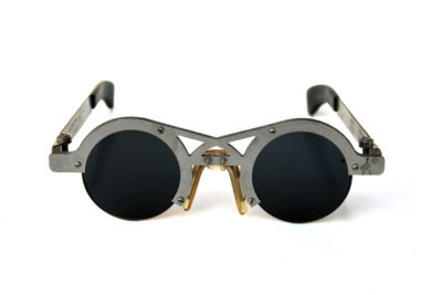 Hi Tek round silver metal sunglasses cult-14 unusual unique