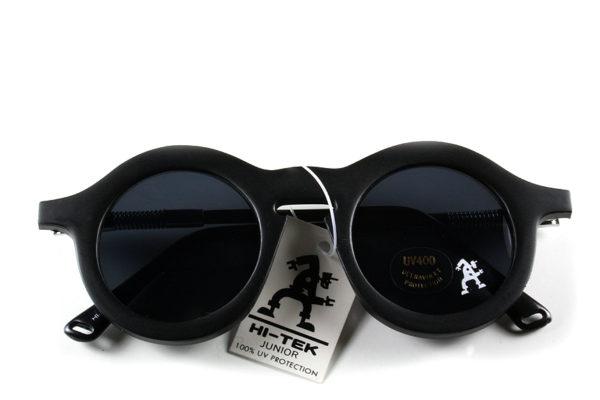 vintage round sunglasses black plastic frame HT-008