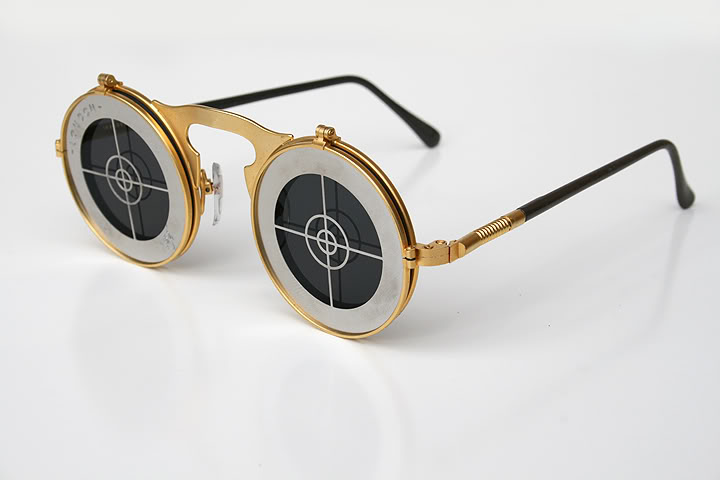 round flip up sunglasses silver metal Hi Tek Michael Jackson sunglasses
