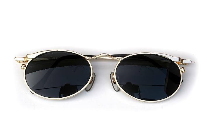 c61354a2240 oval gold metal sunglasses polarised lenses Hi Tek