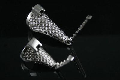 HI TEK knuckle armor pompom ring SSRNGS001 unusual