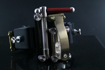 Handmade Steampunk retro futuristic cuff watch Hi Tek HTSTW024