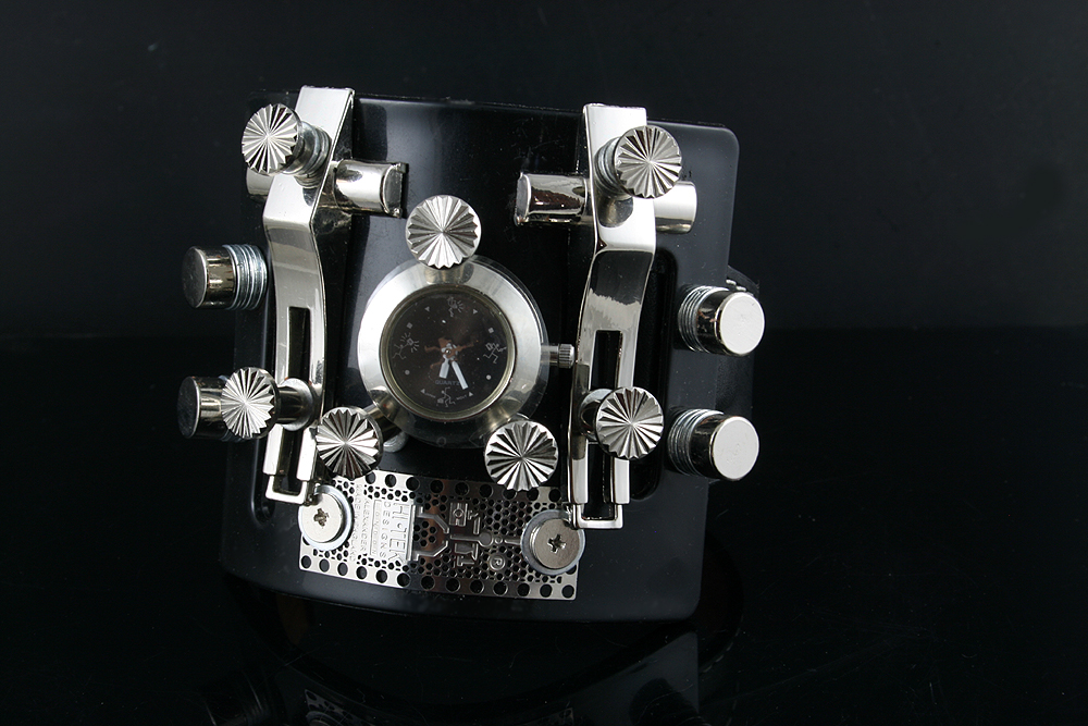 Goth Steampunk watch cuff Hi Tek HTSTW037 unusual unique