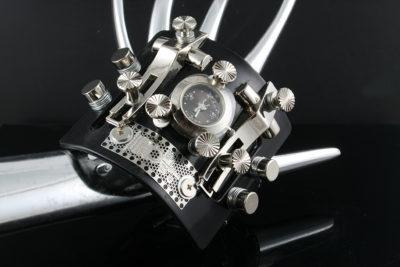 Goth Steampunk watch cuff Hi Tek HTSTW037 unusual unique