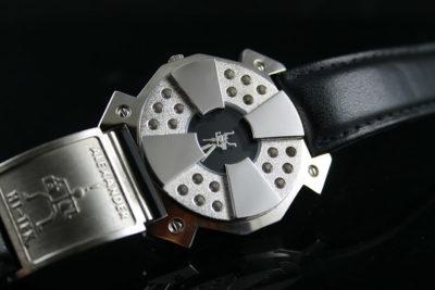 Vintage unisex Goth cyber modern stemapunk wrist watch Hi Tek London Alexander