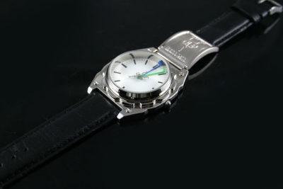 Vintage unisex Goth cyber modern steampunk wrist watch Hi Tek London Alexander
