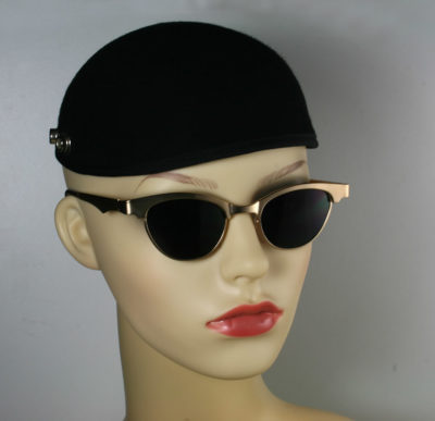 metal cats eye sunglasses vintage retro Hi Tek silver gold