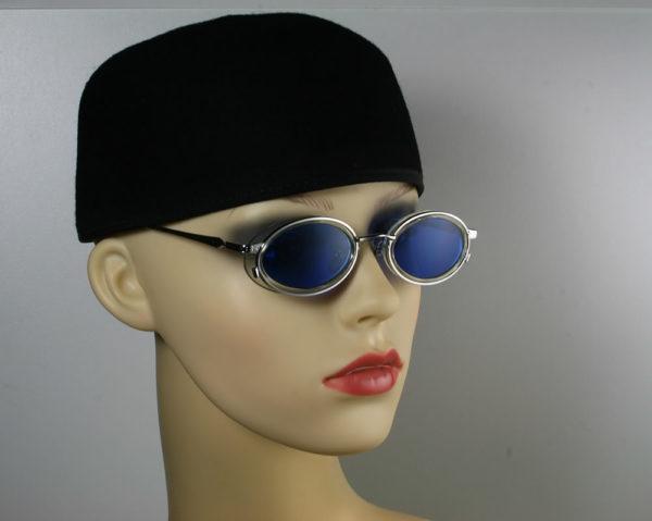 black wool felt cap hat fez Hi Tek