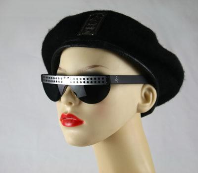 unisex oblong black metal sunglasses  SG/F 600-G-R