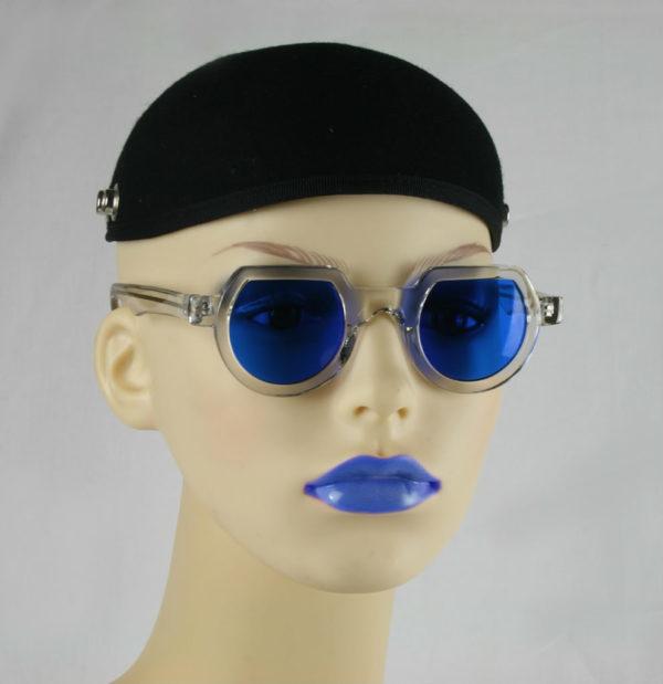 Hi Tek round sunglasses blue lens HT-010